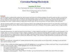 Corrosion/Plating/Electrolysis Lesson Plan