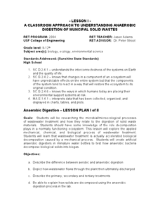 A Classroom Approach To Understanding Anaerobic Digestion Of Muncipal Solid Wastes Lesson Plan