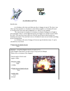 Acceleration and You Lesson Plan