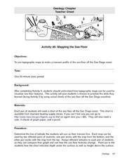 Mapping the Sea Floor Lesson Plan