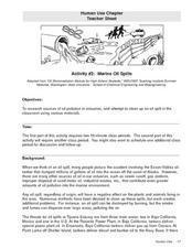 Marine Oil Spills Lesson Plan