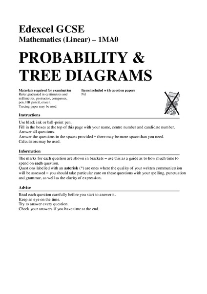 Probability Complete Independent Tree Diagram Grade 5 Manual Guide