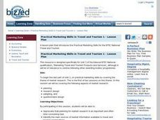 Practical Marketing Skills in Travel and Tourism 1 Lesson Plan