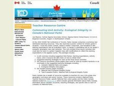 Ecological Integrity in Canada's National Parks Lesson Plan