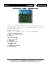 Agriculture in Canada Lesson Plan