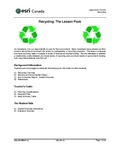 Recycling in Canada Lesson Plan