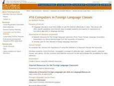 Computers in Foreign Language Classes Lesson Plan