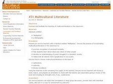 Multicultural Literature Lesson Plan