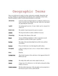 Researching Geographical Terms Lesson Plan