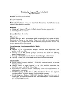 Stratigraphy -- Layers of Time in the Earth Lesson Plan