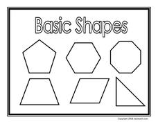 Basic Shapes Printables & Template
