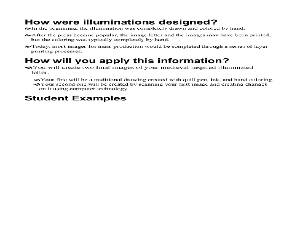 Designing Illuminated Text Lesson Plan