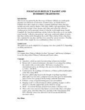 Folktales Reflect Daoist and Buddhist Traditions Lesson Plan