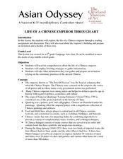 Life of a Chinese Emperor Through Art Lesson Plan