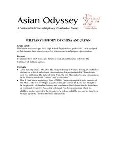 Military History Of China And Japan Lesson Plan