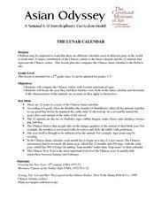 The Lunar Calendar Lesson Plan