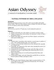 Natural Wonders of China And Japan Lesson Plan