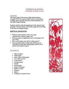 Chinese Paper-Cuts Lesson Plan
