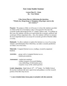 East Asian Studies Seminar Lesson Plan