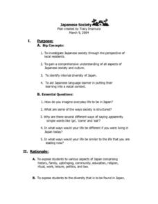 Japanese Society Lesson Plan