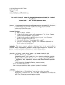 East Asian Lesson Plans Lesson Plan