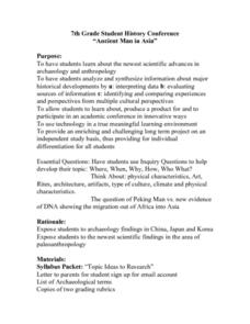 Ancient Man in Asia Lesson Plan