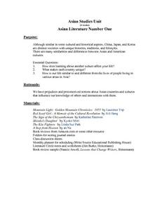 Asian Literature Lesson Plan