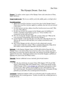 The Olympic Dream: East Asia Lesson Plan