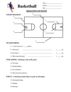Basketball and Net Worksheet - Twisty Noodle