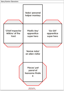 Literacy Dice Printables & Template