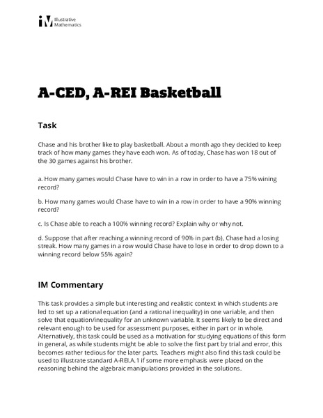 Basketball Activities & Project