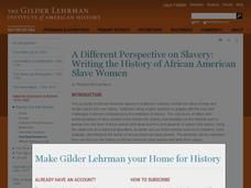 Writing the History of African American Slave Women Lesson Plan