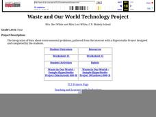 Waste and Our World Technology Project Lesson Plan