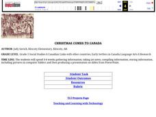 CHRISTMAS COMES TO CANADA Lesson Plan