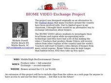 BIOME VIDEO Exchange Project Lesson Plan