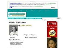 Biology Biographies Lesson Plan