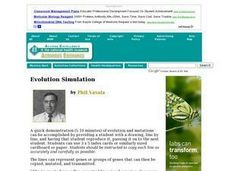 Evolution Simulation Lesson Plan