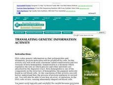 Translating Genetic Information Lesson Plan