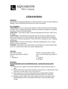 A Drip in the Bucket Lesson Plan