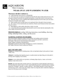 Wear-Away and Wandering Water Lesson Plan