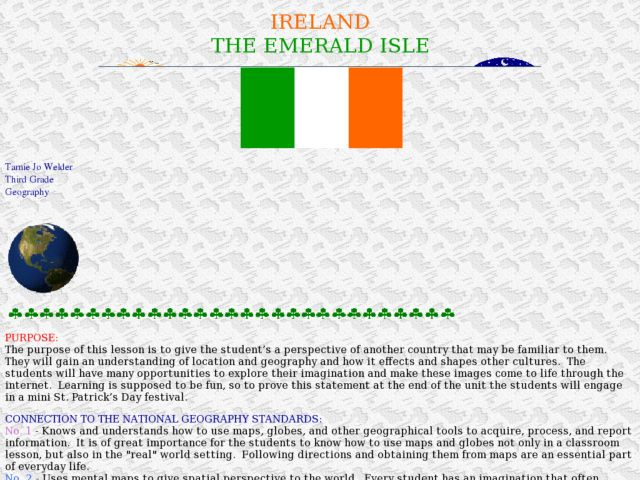 Ireland: the Emerald Isle Lesson Plan