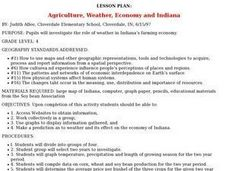Agriculture, Weather, Economy and Indiana Lesson Plan