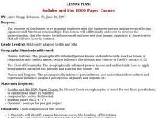 Sadako and the 1000 Paper Cranes Lesson Plan