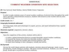 Current Weather Condition Site Selection Lesson Plan