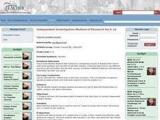 Independent Investigation Method of Research for K-12 Lesson Plan