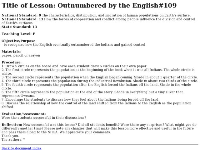 Outnumbered by the English Lesson Plan