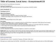 Local Area - Ecosystems Lesson Plan