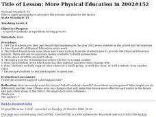More Physical Education in 2002 #152 Lesson Plan