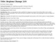 Regions Change Lesson Plan