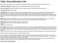Desertification Lesson Plan